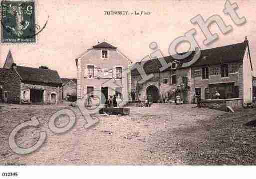 Ville de THENISSEY, carte postale ancienne