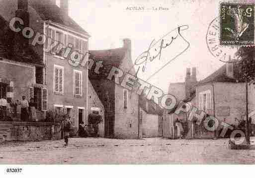 Ville de ACCOLAY, carte postale ancienne