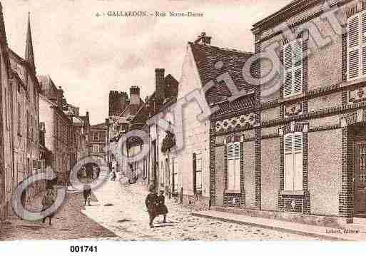 Ville de GALLARDON, carte postale ancienne