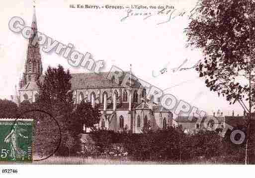 Ville de GRACAY, carte postale ancienne