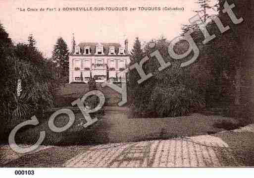 Ville de BONNEVILLESURTOUQUES, carte postale ancienne