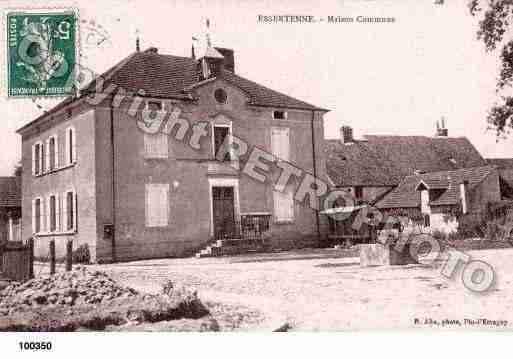 Ville de ESSERTENNE, carte postale ancienne