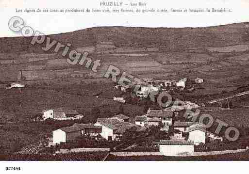Ville de PRUZILLY, carte postale ancienne