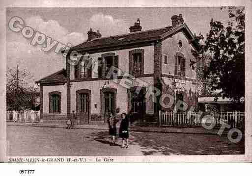 Ville de SAINTMEENLEGRAND, carte postale ancienne