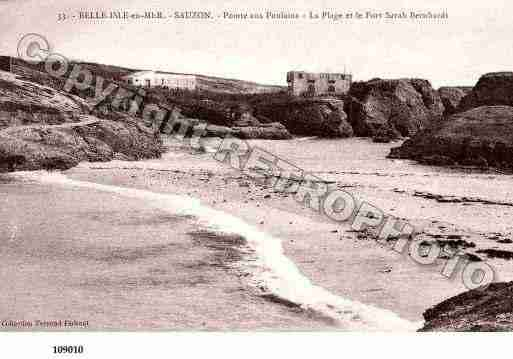 Ville de SAUZON, carte postale ancienne