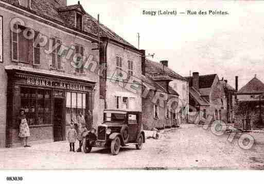 Ville de SOUGY, carte postale ancienne