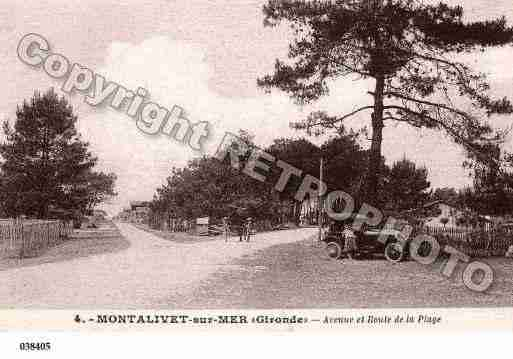 Ville de VENDAYSMONTALIVET, carte postale ancienne