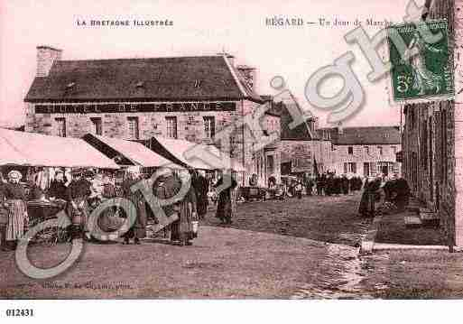 Ville de BEGARD, carte postale ancienne