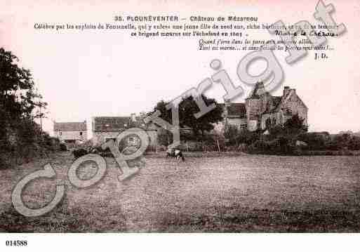 Ville de PLOUNEVENTER, carte postale ancienne