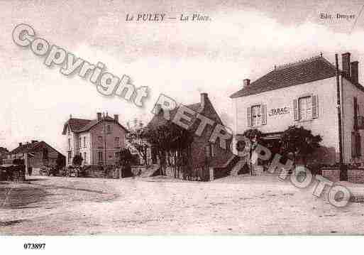 Ville de PULEY(LE), carte postale ancienne
