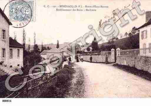 Ville de REBENACQ, carte postale ancienne