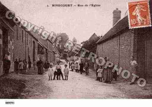 Ville de RIVECOURT, carte postale ancienne