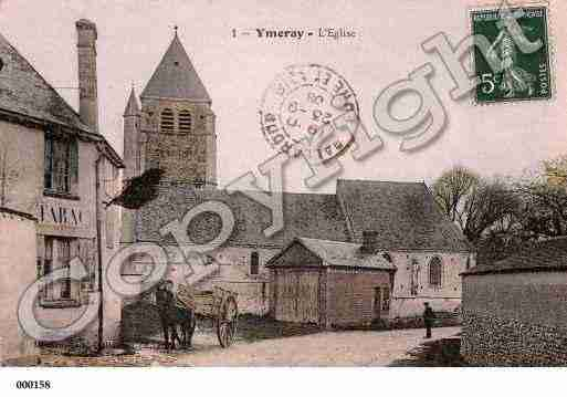 Ville de YMERAY, carte postale ancienne