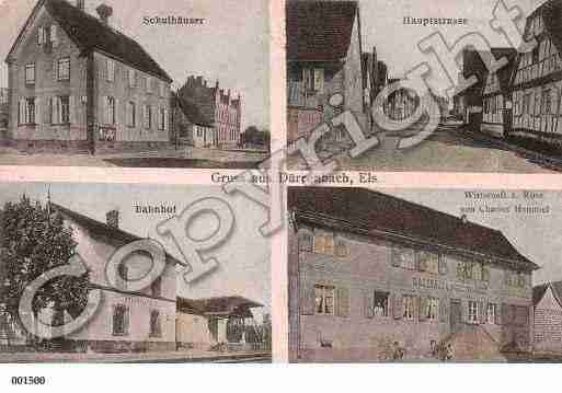 Ville de DURRENBACH, carte postale ancienne