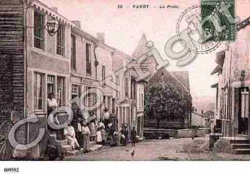 Ville de VANDY, carte postale ancienne