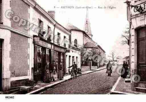 Ville de AUTHON, carte postale ancienne