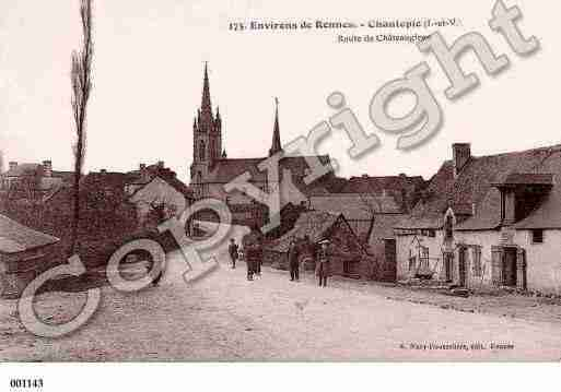 Ville de CHANTEPIE, carte postale ancienne