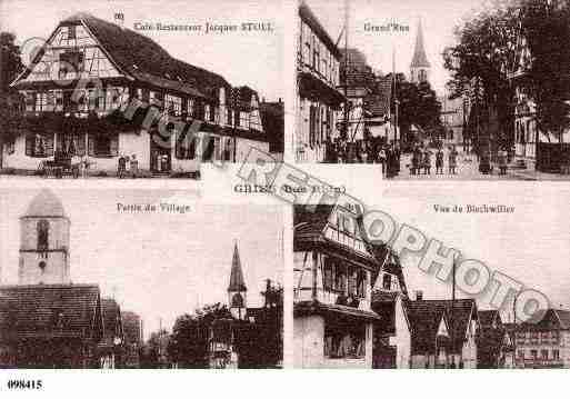 Ville de GRIES, carte postale ancienne