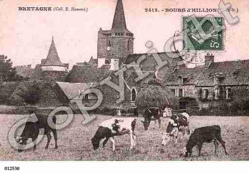 Ville de HILLION, carte postale ancienne