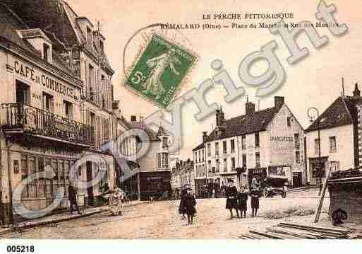 Ville de REMALARD, carte postale ancienne