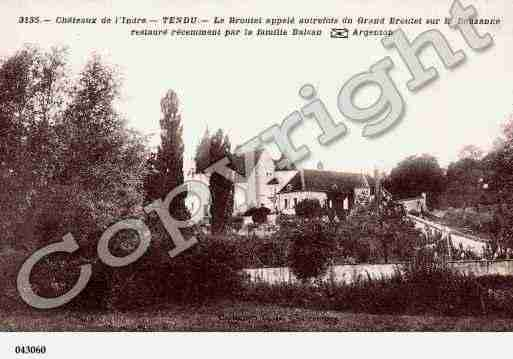 Ville de TENDU, carte postale ancienne