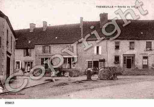 Ville de THENEUILLE, carte postale ancienne