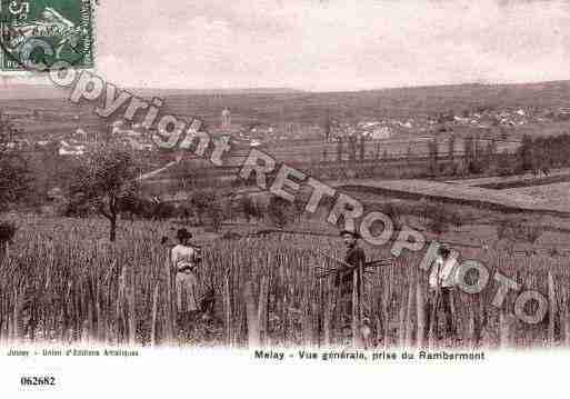 Ville de MELAY, carte postale ancienne
