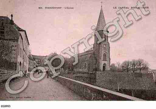 Ville de PIERREFORT, carte postale ancienne
