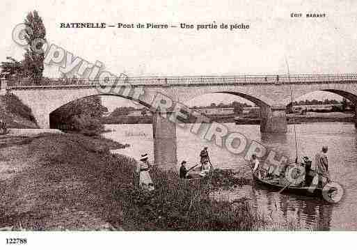 Ville de RATENELLE, carte postale ancienne