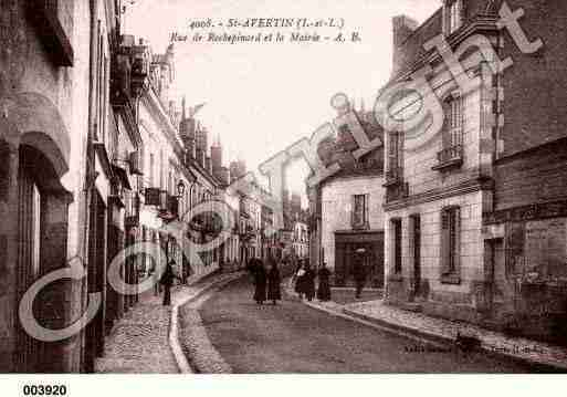 Ville de SAINTAVERTIN, carte postale ancienne