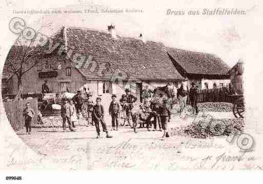 Ville de STAFFELFELDEN, carte postale ancienne