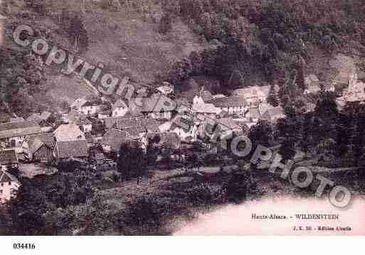 Ville de WILDENSTEIN, carte postale ancienne