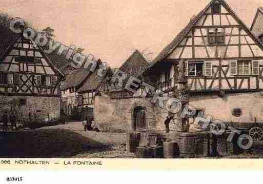 Ville de NOTHALTEN, carte postale ancienne