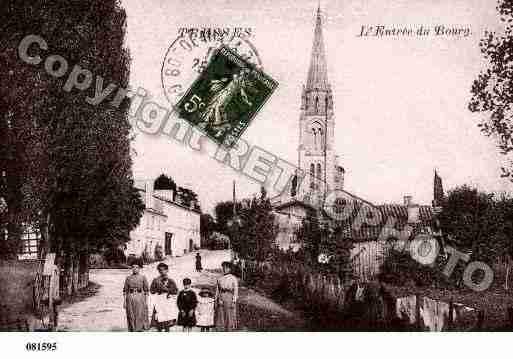 Ville de TRESSES, carte postale ancienne