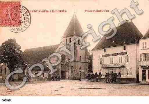 Ville de VERDUNSURLEDOUBS, carte postale ancienne