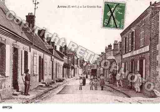Ville de ARROU, carte postale ancienne
