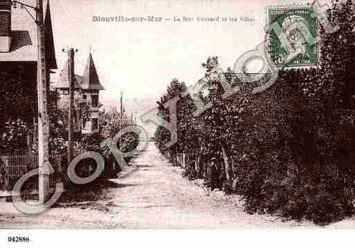 Ville de BLONVILLESURMER, carte postale ancienne