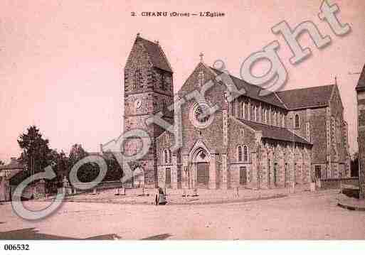 Ville de CHANU, carte postale ancienne