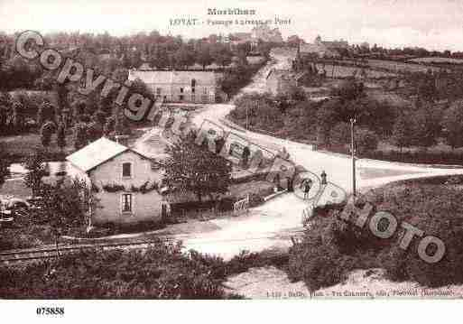 Ville de LOYAT, carte postale ancienne
