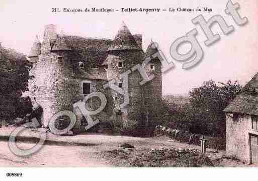 Ville de TEILLETARGENTY, carte postale ancienne