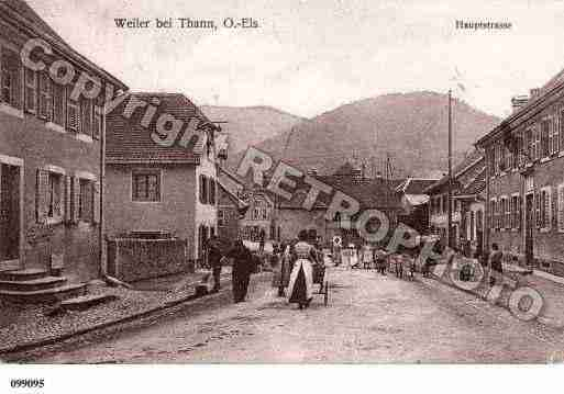Ville de WILLER, carte postale ancienne
