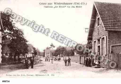 Ville de WINTERSHOUSE, carte postale ancienne