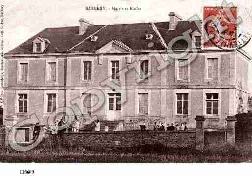 Ville de BARBERY, carte postale ancienne