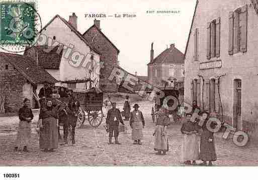 Ville de FARGESLESCHALON, carte postale ancienne