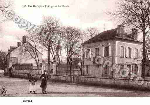 Ville de FOECY, carte postale ancienne