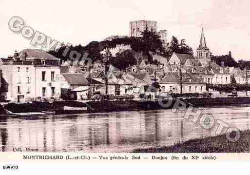 Ville de MONTRICHARD, carte postale ancienne