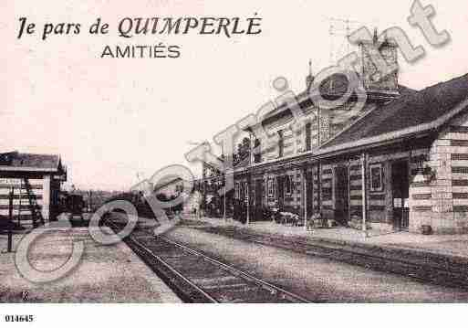 Ville de QUIMPERLE, carte postale ancienne