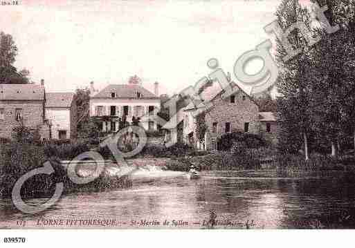 Ville de SAINTMARTINDESALLEN, carte postale ancienne
