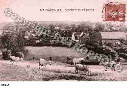 Ville de SAINTLEGERDUBOIS, carte postale ancienne