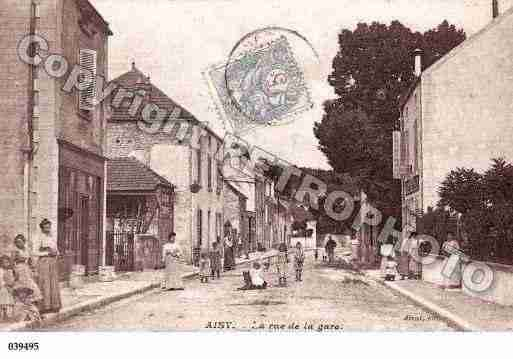 Ville de AISYSURARMANCON, carte postale ancienne